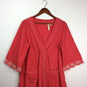 Anthropologie Dresses - Anthropologie Feather Bone Butterfly Robe Dress